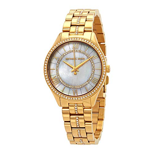 Of Mother Watch Womans Pearl (Michael Kors Women's 'Lauryn' Quartz Stainless Steel Casual Watch, Color:Gold-Toned (Model: MK3899))