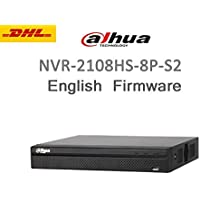 Dahua NVR NVR2108HS-8P-S2 6MP 8Channel Network Video Recorder H.264+ USB Ports ONVIF 8 Ports PoE Up to 6TB( NO HDD) English Version Support Upgrade Firmware