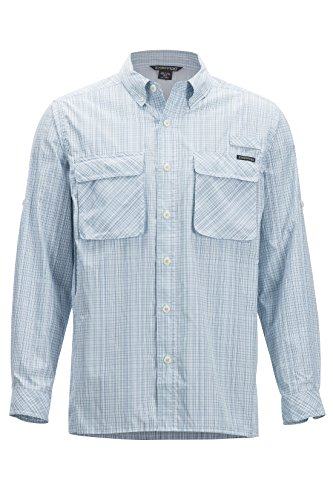 ExOfficio Men's Air Strip Ombre Long Sleeve Button Down Shirts, Breeze, XX-Large (Exofficio Air Mens)
