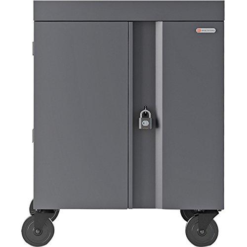 Bretford Cube Cart Netbooks/Tablets Gray, Charcoal (TVC16PAC-CK)