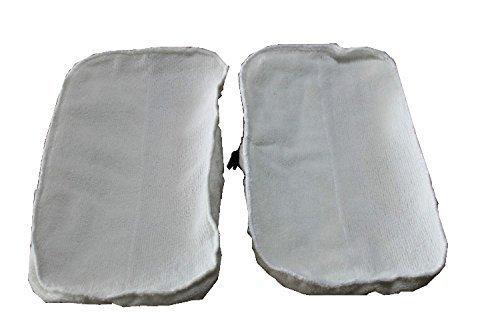 welim vapor fregona almohadillas de repuesto almohadillas de microfibra mopa de vapor lavable almohadillas de limpieza universal para madera suelos lisos de mosaico 2pcs Blanco