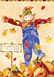Pumpkin Patch Scarecrow – Fall & Thanksgiving Welcome – 28 Inch X 40 Inch Large Decorative Flag