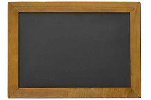 "16"" x 12"") Two Sided Rustic Hanging Chalk Board for Wedding, Home, Kitchen, Or Business use. Hand Made Slate Writing Surface and Distressed Wood Frame Finish (Cherry) (Genuine Slate)"