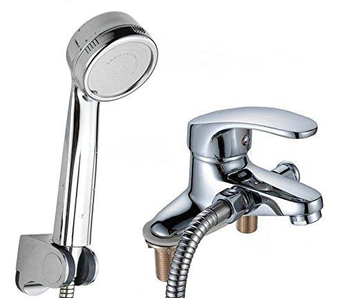 U-Enjoy 3 Wege Badezimmer Top-Qualität-Hahn Mit Einhand-Dual-Loch Waschbecken Wasserhahn [Zink-Legierungsmaterial]