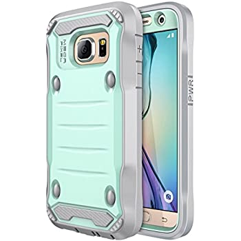 Galaxy S7 Case, E LV Samsung Galaxy S7 Hybrid Armor Protection Defender Case Cover with Built-in Screen Protector For Samsung Galaxy S7 - [MINT / GREY]