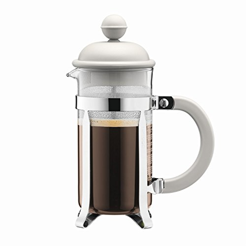 Bodum Caffettiera Coffee Maker, French Press with Plastic Lid, 3 Cups of Coffee, 0,35 l, Cream, 1913-913