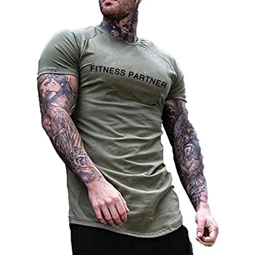 KLGDA Mens Blank Stringer Y Back Bodybuilding Gym Tank Tops Sleeveless Tees