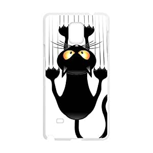 Cute Lovely Black Cat Cartoon Phone For Iphone 6Plus 5.5Inch Case Cover