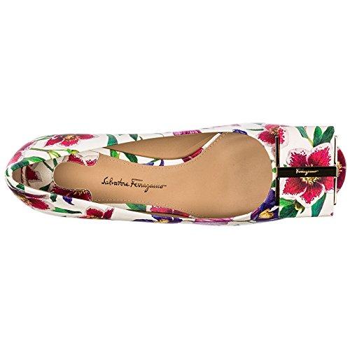 Chaussures en Salvatore Talon Escarpins Cuir à Blanc capua Ferragamo Femme wH4q6Z