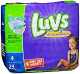 Health & Personal Care : Luvs Ultra Leakguards Diapers Size 4 - 4 pack of 29, Pack of 2