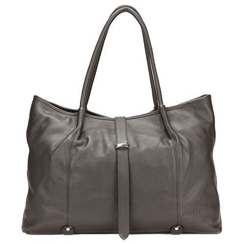 - Banuce Womens Extra Large Top Grain Leather Shoulder Tote Bag Ladies Hobo Handbag Purse Business Travel Office a4 Work Bag Dark Brown