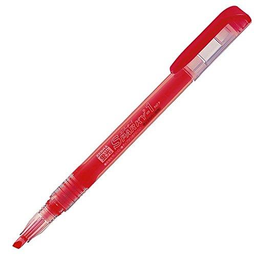 Zebra highlighter fluorescent Sparky 1 B-WKP1-R red 10 pieces