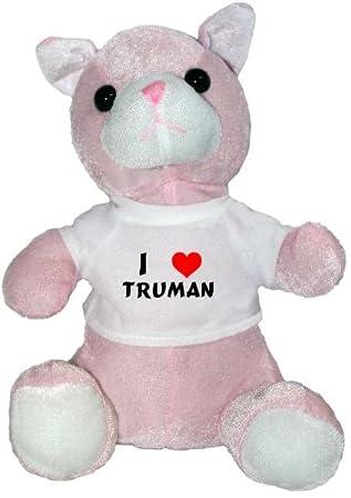 Amazon.com: De gato de peluche juguete con I Love Truman ...