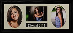"8x20 Class of 2014 GRADUATE COLLAGE ~ Holds 3-5""x7"" Photos ~ BLACK Frame GRADUATION GIFT"