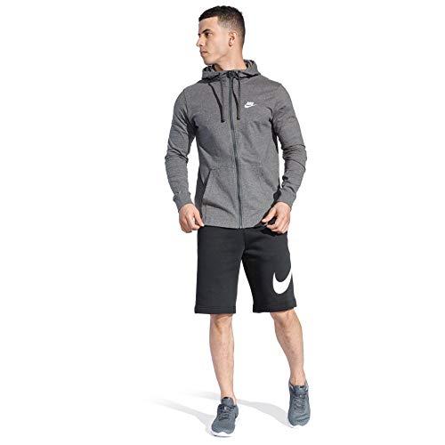 Sweat M shirt Nike Club Hoodie Nsw white Jsy Homme Charcoal Fz Heathr Cdq4Yxd