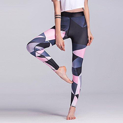 MAYUAN520 Las Mujeres Yoga Fitness Deporte Pantalones de Cintura Alta  compresión Leggings Pantalones Ropa de Gimnasia ... bebe2606a559