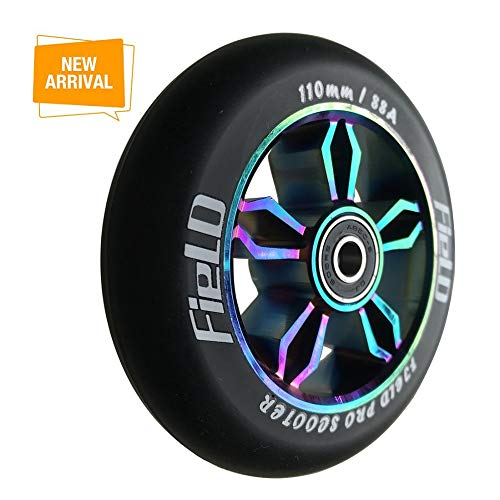 aibiku 110mm Pro Stunt Scooter Wheel with ABEC-9 Bearings fit for  Fuzion/Envy/MGP/Lucky TFOX/Vokul Pro Scooters - Colorful (Pair)