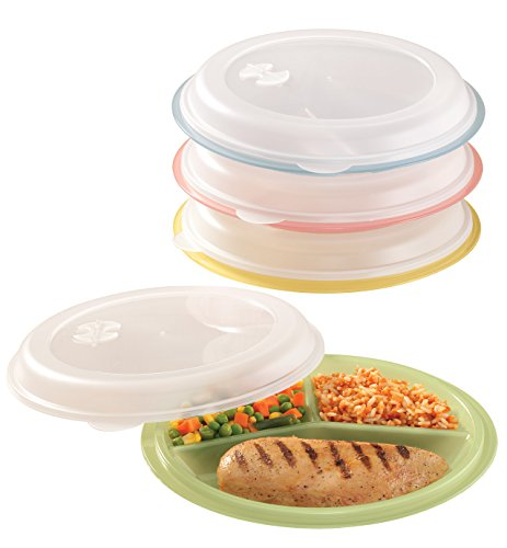 - Miles Kimball Divided Plates And Food Storage Containers - Set Of 4