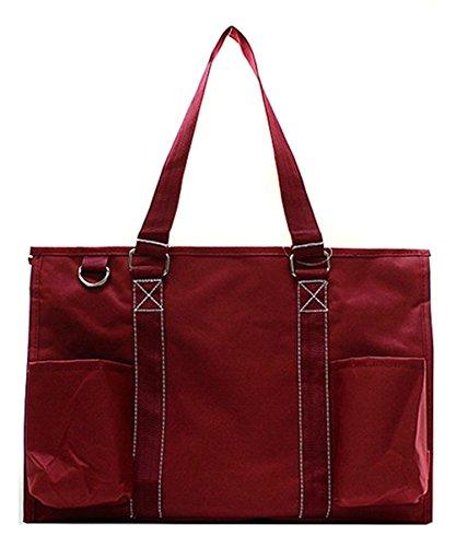 N Gil All Purpose Organizer Medium Utility Tote Bag (Solid Burgundy)]()