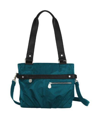 Baggallini Luggage Leather Trim Kathryn Tote, Emerald, One Size