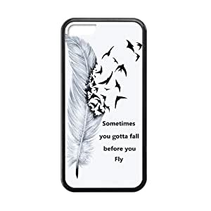 CSKFUSometimes You Gotta Fall Before You Fly White Stylish Cover Case For iphone 6 4.7 inch iphone 6 4.7 inch with high-quality Silicon Rubber
