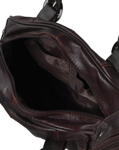 Large Shoulder Plum from Lorenz with Handbag Twin Leather Straps 1dqRq