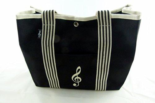 Musica in bianco e nero a tema mi piace manipolare principale Musica Tote Bag