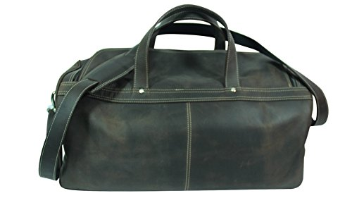 Genuine Leather Duffel bag, Vintage Leather, Crazy Horse Leather, Antique Brown, by Deoni Leather Factory Direct
