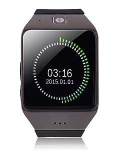 "uhappy UW1 1.54 ""reloj teléfono resistente pantalla táctil capacitiva gsm agua bluetooth fm nfc cuatribanda , black-rubberband"