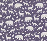 Fitted Crib Sheet in Gray Woodland Animals Deer, Bear, Fox by Twig + Bird - Handmade in America