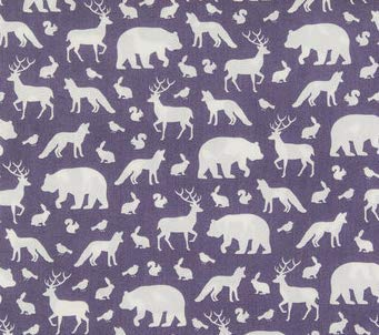 Fitted Crib Sheet in Gray Woodland Animals Deer, Bear, Fox by Twig + Bird - Handmade in America