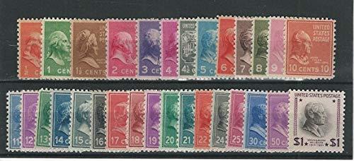 United States, Postage Stamp, 803-832 Mint NH, 1938 Presidents, JFZ