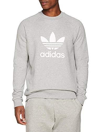 Sweatshirt Crew Hombre Trefoil Adidas Grey Medium Heather L pq7EWW