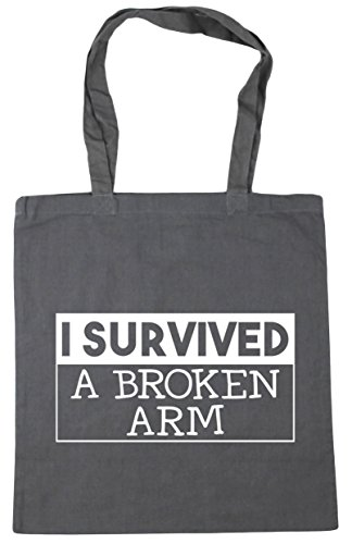 Beach 10 a survived HippoWarehouse Graphite broken I arm litres x38cm 42cm Grey Tote Shopping Gym Bag xaHa78