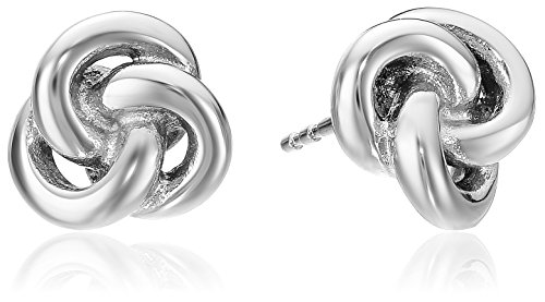 Fossil Heritage Silver Tone Knots Stud Earrings (Knot Tone Silver)