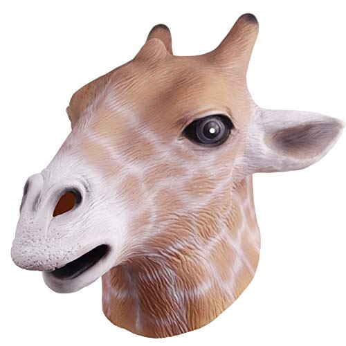 Novelty Animal Costume Accessory Giraffe Mask for Cosplay Party -