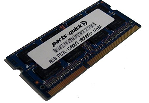 8GB Memory Upgrade for ASUS G501JW DDR3L 1600MHz PC3L-12800 SODIMM RAM (PARTS-QUICK BRAND)
