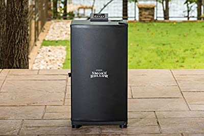 Smoke Hollow SH19079518 Electric Smoker, Exterior: 17.8 16.3 19.3 in. L Interior:13.8 in. H x 12.6 in. W x 11.9 in. L, Black