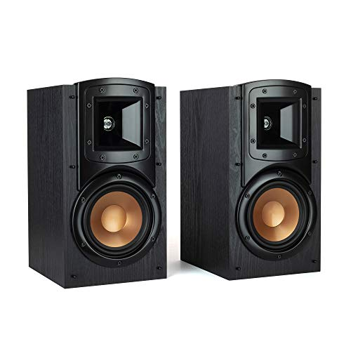 Klipsch Synergy Black Label B-200 Bookshelf Speakers with Tractrix Horn Technology and efficient Design