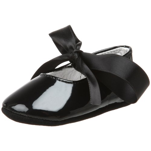 Ralph Lauren Layette Briley Ballet Crib Shoe (Infant/Toddler),Black Patent,2 M US (Patent Crib Shoes)
