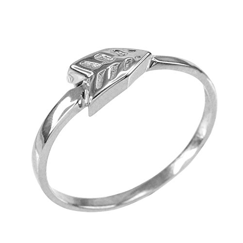 Dainty 925 Sterling Silver Arrow Ring for Women (Size (Contemporary Sterling Silver Rings)