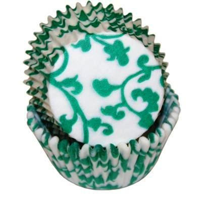 CLEARANCE FREE STANDARD SHIPPING - 24 Ivy Vine Baking Cups Cupcake Liners - Green - for Muffins / Cupcakes / Cake Pops - We Ship Within 1 Business (Green Halloween Cupcakes)