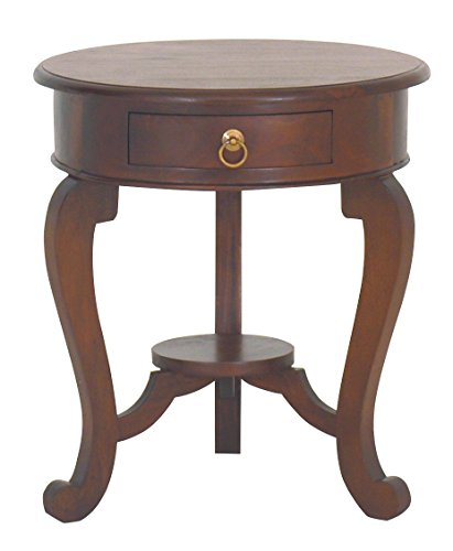 NES Furniture Nes Fine Handcrafted Furniture Solid Mahogany Wood Queen Anne End Table - 24