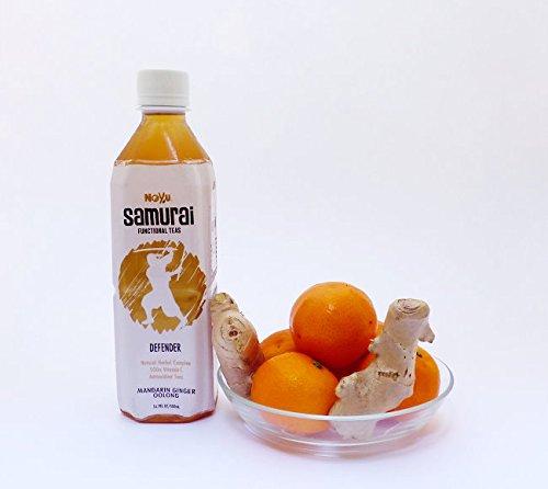 Noyu Teas Samurai Defender Mandarin Ginger Oolong Tea, 16.9-Ounce Bottles (Pack of 12) by NOYU (Image #2)