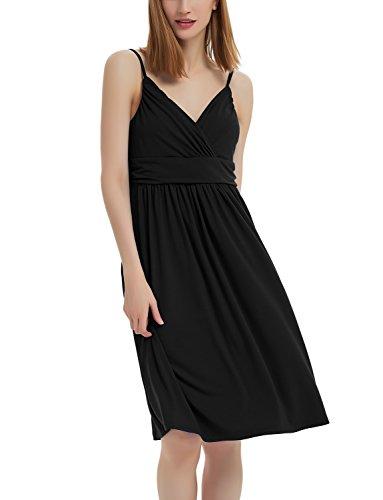 - GINKANA Women Maternity Dress Wrap Sweetheart with Adjustable Spaghetti Straps Nursing Breastfeeding Dress Nightgown