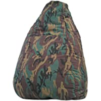 Gold Medal Bean Bags 31011284925TD Large Denim Tear Drop Bean Bag with Pocket, Camoflage