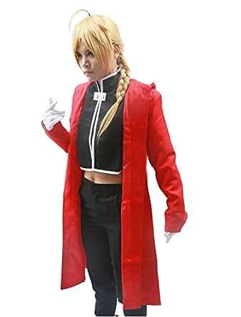 Fullmetal Alchemist cosplay costume, Edward Elric cosplay costume,Size XXL