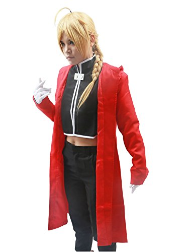 Edward Elric Costume Fullmetal Cosplay Alchemist Halloween Outfit L