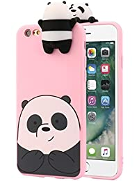 IPhone 6/6s Case, Transer 3D Cartoon Animals Cute Bare Bears Soft Silicone Case Skin For IPhone 6/6s 4.7 Inch