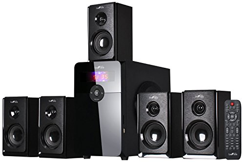 beFree Sound BFS-450 5.1 Channel Surround Bluetooth Speaker System - Black